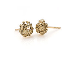 Dome Gold stud earrings