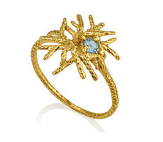 Star Ring with Bluetopaz