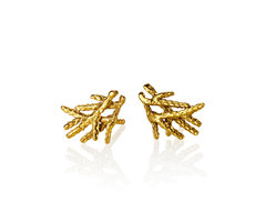 Gold twig studs