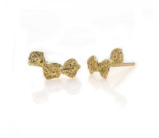 Gold stud climber earrings