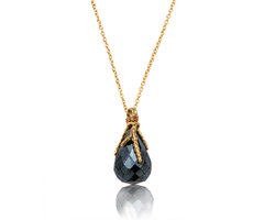 Black spinel Drop Necklace