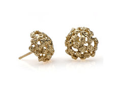 Gold dome Earrings